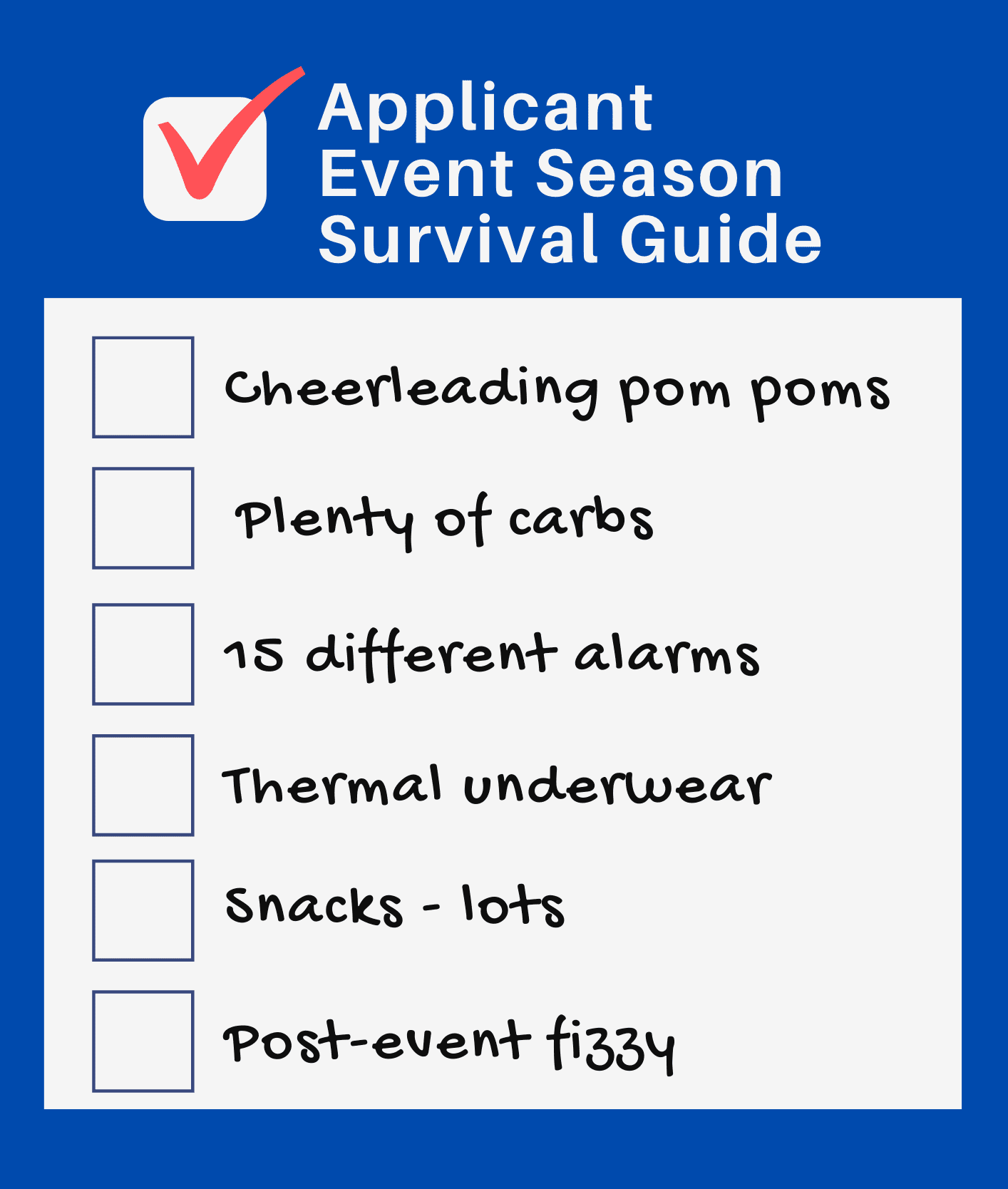 Surviving applicant event season
