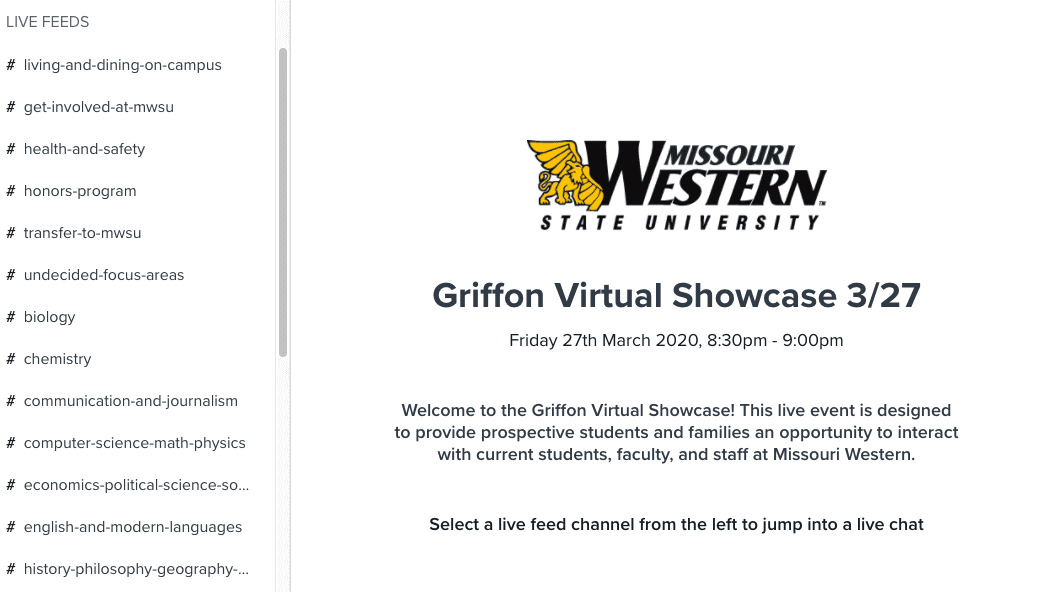 Missouri Western State University created a virtual Open House that gave prospective students and applicants a full experience online - here's how.